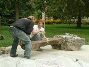 Harold Memorial Install